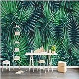 Wapel Personalizzata Carta da parati foto murale adesivo parete settentrionale europeo semplice pianta tropicale Sfondo carta murale 200cmx140cm