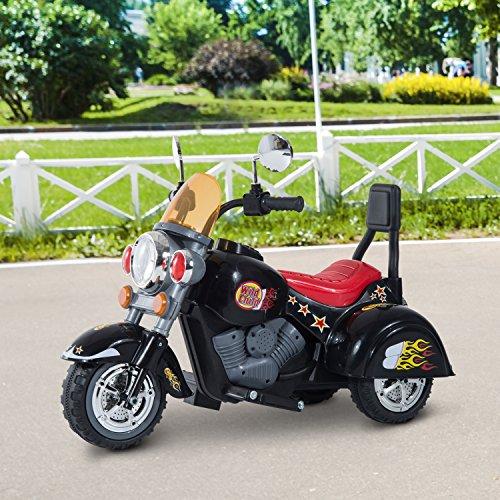 cc0f24519 HOMCOM Moto Electrica Infantil Bateria Recargable Niño 3 Años Cargador 3  Ruedas.
