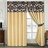 linder 0523 21 377fc rideau simili cuir weston dor oeillets 135 x 260 cm cuisine. Black Bedroom Furniture Sets. Home Design Ideas