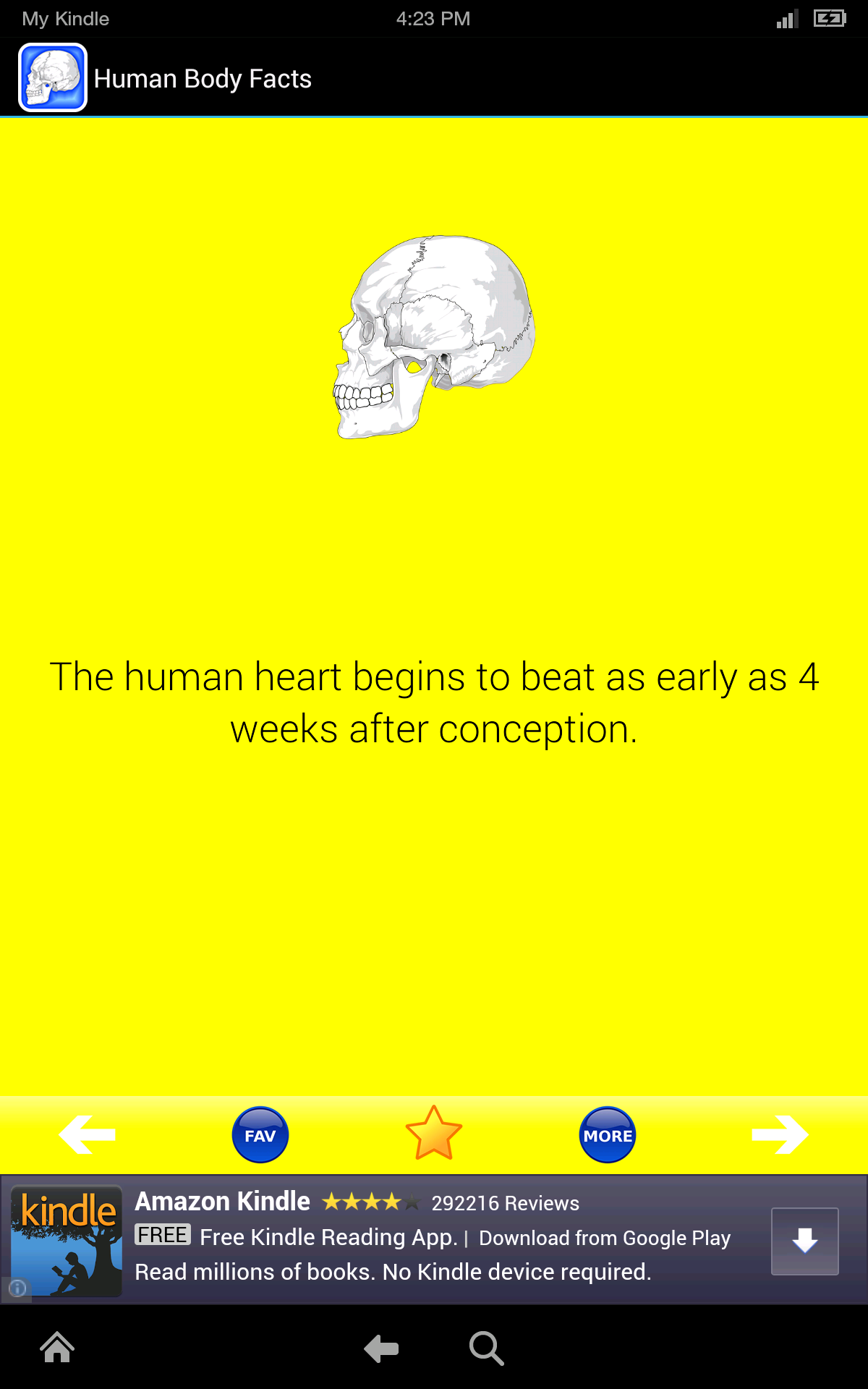 Human Body Facts: Fun Human Anatomy and Physiology Flash Cards app ...