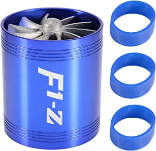 Duokon Auto Lufteinlass Turbo Auto Auto Turbonator Dual Fan Turbine Super Ladegerät Gas Fuel Saver Turbo Ersatz Blau Auto