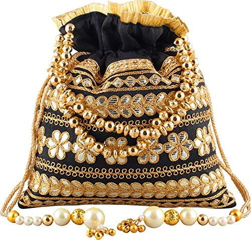 Bombay Haat Ethnic Rajasthani Gota Ptti Potli Bag/Potli Purse/Bridal Clutch/Bridal Purse for...