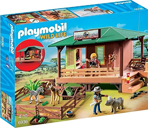 PLAYMOBIL- Ranger Station with Animal Area Playset