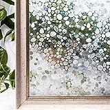 CottonColors Fensterfolie Sichtschutzfolie 3D Dekofolie statisch selbstklebend Anti UV milchglas Fensterfolien Glasdekofolie geeignet für Dusche und Küche selbstklebend ohne Klebstoff keine Phthalate umweltfreundlich 3ft x 6.5 ft (90 x 200 cm)