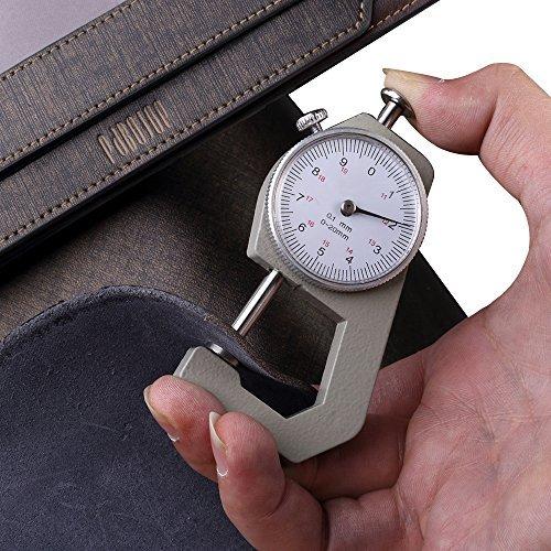Oneworld Herren Rindleder Geldbörse Börse Geldbeutel Geldtasche Portemonnaie 9x18.6x1.5cm(BxHxT) Lang Braun Braun
