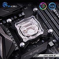 Hongfei Bloque de enfriamiento de agua de la CPU Bloque interno de enfriamiento de agua para el sistema Intel Water Cool Computadora Luz RGB (Transparente)