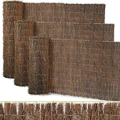 casa pura Heidematte | natürlicher Sichtschutz aus Heidekraut | viele Größen | dekorative Zaun Verkleidung und Windschutz für Garten, Terrasse und Balkon (100x300 cm)