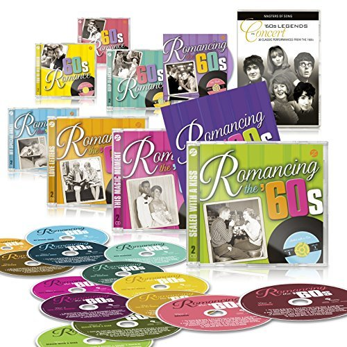 Romancing The 60s Deluxe Edition Set by Zestify - 14 CDs + Bonus CD: 60s Duets + Free DVD: 60s Legends In Concert + Booklet