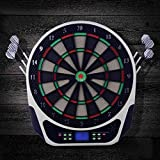 YANXS 16pcs Sport Coperto Punteggio Tavola Bersaglio per Freccette Display a LED Proofessional Elettronico Bersaglio per Freccette con 6 Punte Morbide Dart