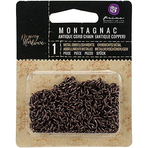 Prima Marketing prima Marketing memoria hardware Cadenas 2yd–Montagnac Cord/cobre envejecido, otros, multicolor
