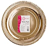 #10: Origami Metallic Gold Paper Plate and Napkin 4 in 1 (pack of 40)