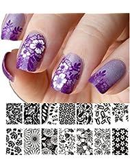 Born Pretty Nagel Schablone Nail Art Stamp Platte 12,5 x 6,5 cm BP-L024