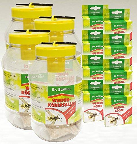 Dr. Stähler guêpes de Leurre cas – offre Set 4 x Piège à guêpes 8 x Recharge