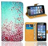 FoneExpert® Microsoft Lumia 640 / 640 Dual SIM Handy Tasche, Wallet Case Flip Cover Hüllen Etui Ledertasche Lederhülle Premium Schutzhülle für Microsoft Lumia 640 / 640 Dual SIM (Pattern 3)