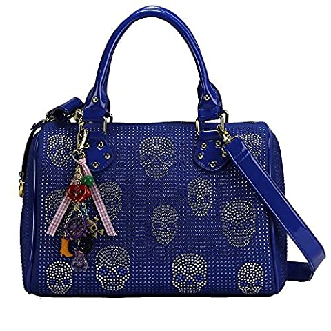 Tote Bag For Women Designer Handbag Ladies Skull Diamante Celebrity Style Shoulder Bag