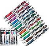 Pentel Energel XM BL77 (Druck-Gelschreiber, 0,7 mm, 12 Farben) + 12 Ersatzminen in den passenden Farben