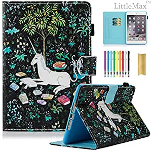 iPad Air Case,iPad 5 Case - LittleMax(TM) Slim [Card Slot] Flip Leather Case [Auto Sleep/Wake Feature] *Stand Case Cover* for iPad Air / iPad 5 [Free Cleaning Cloth,Stylus Pen]--Colorful Lantern