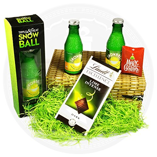 Snowball And Lindt Festive Delights Hamper By Moreton Gifts Snowball And Lindt Lime Chocolate Bar