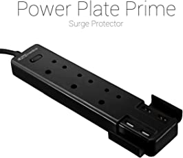 Portronics Por-670(Black) Power Plate Prime Three 5A Electrical Universal Sockets And 4 Usb Ports & Surge Protector