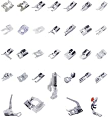 Imported 32 Sewing Machine Presser Foot Feet Kit fit for Brother Singer Janome