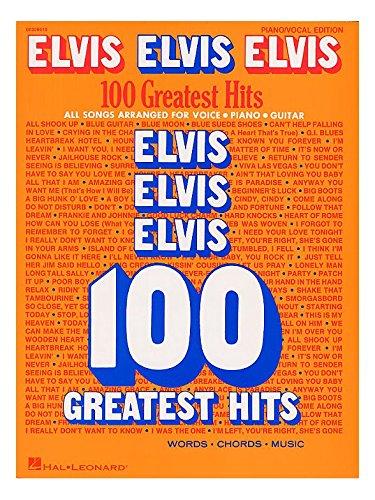 Elvis Elvis Elvis: 100 Greatest Hits. Partitions pour Piano, Chant et Guitare(Boîtes d'Accord)