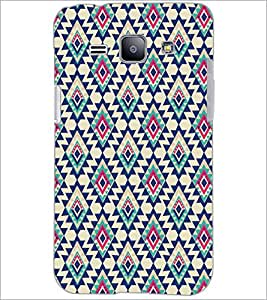 PrintDhaba Diamond Pattern D-5391 Back Case Cover for SAMSUNG GALAXY J1 (Multi-Coloured)