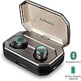 Écouteurs Bluetooth 5.0 Vigorun Oreillette Bluetooth sans Fil 3000mAh Etui de Charge Autonomie 100H IPX6 CVC 8.0 Réduction du Bruit Casque Stéréo Sport Mic pour Samsung Huawei iPad Tablette