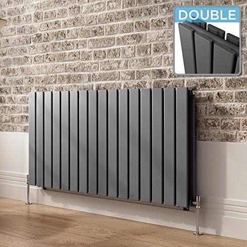 ibathuk-600-x-1218-mm-horizontal-radiator-anthracite-double-flat-panel-heater