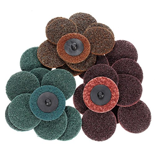wishfive-30pcs-2-inch-roloc-roll-lock-surface-conditioning-fine-medium-coarse-sanding-discs