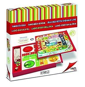Cayro A1303224 - Parchís y Oca, juego de mesa (07674) - Juego: Box Parchís y Oca
