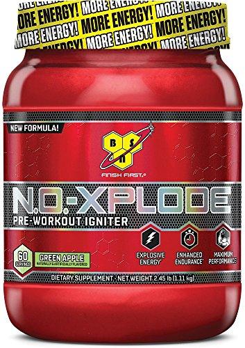 BSN N.O. Xplode - Complément Sportif 1,11kg 60 Dose Pomme Vert Pré Entraînement