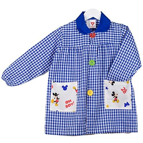 KLOTTZ 4862-MICKEY-AZUL-2 - BABY MICKEY BATA GUARDERIA DISNEY niñas color: AZUL talla: 2