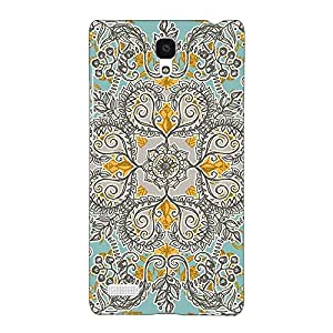 Jugaaduu Vintage Floral Pattern Back Cover Case For Redmi Note 4G