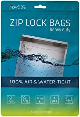 Noaks Bag | Schutzhülle, ZIP-Beutel, Dry-Bag | Größe L – 5 Stück | 100 % wasserdicht, geruchsdicht & sicher | Für Urlaub, Sport & Reisen | Das Original