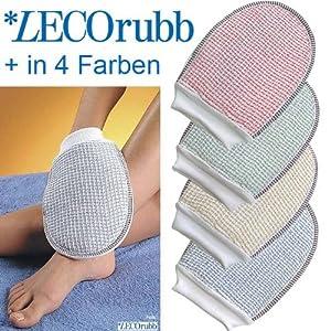 LECOrubb Peelinghandschuh, Massagehandschuh für sanftes, intensives Peeling und Massage, Handschuh