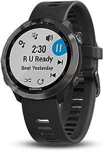 Garmin Forerunner 645 Music Gps Running Watch With Music Slate Colours With Black Strap Black 200 000 Elektronik