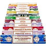 Satya Sai Baba–Nag Champa variedad mezcla Set de regalo C 12x 15g cajas de incienso, incluye, Nag Champa Super Hit, positivo Vibes, pachuli Agarbatti, salvia blanca, Opio, sándalo agarb8881532724372atti, dragones sangre, Meditación, jazmín, lavanda, almizcle árabe