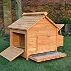 CHICKEN COOP HEN HOUSE POULTRY ARK HOME NEST BOX COUP L – SLIDE OUT CLEANING TRAY & INNOVATIVE 4 POSITION ROOF VENT (COOP HOUSE L)