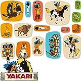 48-teiliges XXL-Konfetti * YAKARI * für Kinderparty und Kindergeburtstag von DH-Konzept // Indianer Indianerjunge Sioux Kleiner Donner Deko Party Set