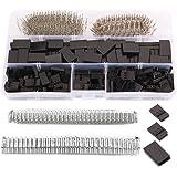 GTIWUNG 720 stuks servo kabelstekkers, 3-pins RC servo verlengkabel, stekkers, 2,54 mm Dupont stekker kit, mannelijk vrouweli