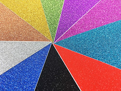 10 Blatt Klebefolie Glitzer Selbstklebende Dekofolie A4 Farbige Bastelfolie Glitter Vinyl Aufkleber für DIY Handwerk Scrapbooking mehrfarbig (Folie Tassen)