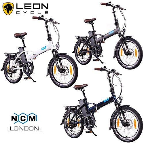 NCM London 20 Zoll Elektrofahrrad,E-Faltrad,E-Bike,Pedelec,Klapprad,36V 250W Bafang Motor, 36V Li-Ion Akku mit 14Ah PANASONIC Zellen,weiß,dunkel blau,schwarz,anthrazit