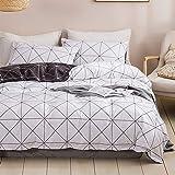 Dencalleus Géométrique Sets de Housse de Couette Blanche Enfant 140x200 cm avec 1 x Taies d'oreiller 50x75 cm, Linge de Lit I