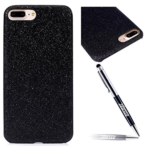 iPhone 7 Plus Custodia, iPhone 7 Plus Cover, JAWSEU Apple iPhone 7 Plus 4.7 Plus Protezione Bumper Brillantini Della Glitter Sparkle Bling Bling Custodia per Apple iPhone 7 Plus Cover Case Caso Gomma Bling Nero