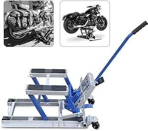 Momoja Motorradheber 680kg Motorradhebebühne Motorrad Hebebühne Für Harley Davidson Blau Auto
