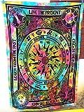 Zukunft handgefertigt Kreislauf von Alter Multi Farbe Tapisserie Wand Twin Tapisserie Wandbehang indischen Psychedelic Hippie Mandala Beach Überwurf Boho Wandteppiche Bohemian Tagesdecke Größe 205,7x 139,7cm