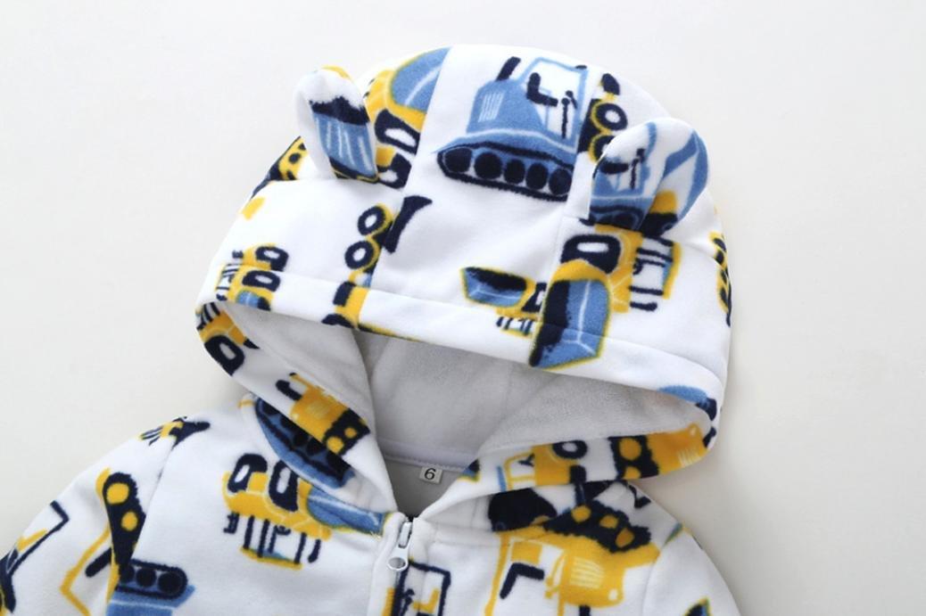Infantil BebéMás Grueso Traje de Mameluco con Capucha Excavadora Traje Ropa para Chicos y Chicas por ESAILQ 4
