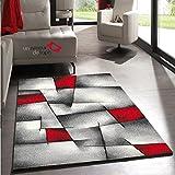 UN AMOUR DE TAPIS Salon Design Brillance Ultimate Rouge 80x150, par Unamourdetapis, Tapis Moderne, Polypropylène, 80 x 150 cm...