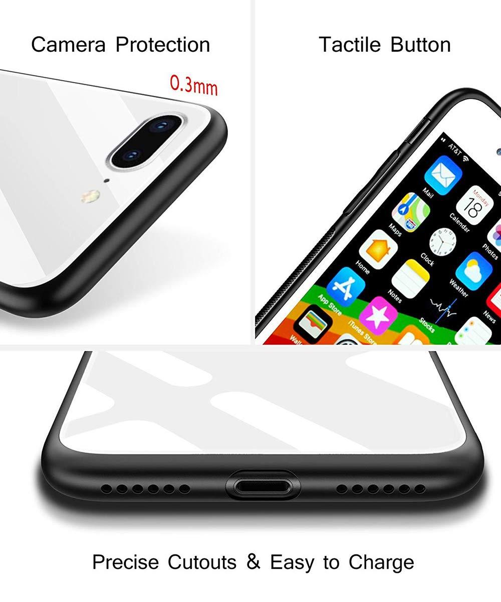 Oihxse Colorido Gradual Cristal Estilo Case Compatible con iPhone 6 Plus/iPhone 6S Plus Funda Vidrio Templado Trasera… 4