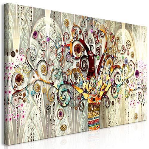 murando Cuadro en Lienzo Gustav Klimt 120x60 cm - 1 Parte Impresión en Material Tejido no Tejido Impresión Artística Imagen Gráfica Decoracion de Pared Arbol Piedras Arte l-A-0033-b-a